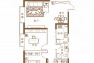 泉舜上城B户型三室两厅一卫约111.66㎡