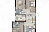 C户型109㎡三室两厅两卫