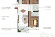 E户型120㎡三室两厅两卫