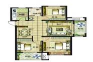 D户型雅致三房115㎡三室两厅一卫