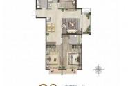 C3户型98平方米三室两厅一卫